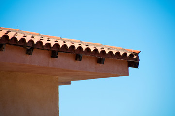 Roof  against  blue sky