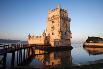 Morning at Belem Tower in Lisbon
