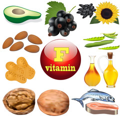 vitamin F content plant and animal products