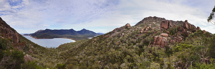 Wineglass bay top panorama