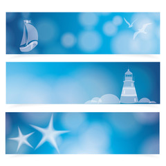 Travel and Nautical - blue awesome banners