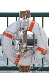 Lifebuoy for safety and rescue  at a Harbour