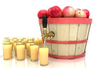 Succo di frutta alla mela, spremuta, cocktail