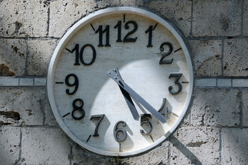 Partially Shaded Clock Face