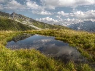 Hochmoor mit Teich in HDR