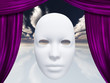 Human face mask and curtains
