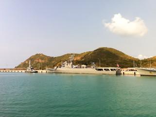 Battleship in the Sea