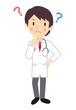 考える男性医師