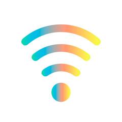 colored wifi icon
