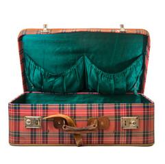 valigia vintage aperta