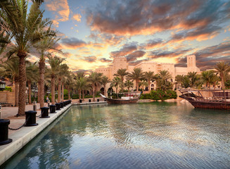 Beautiful views of Madinat Jumeirah hotel