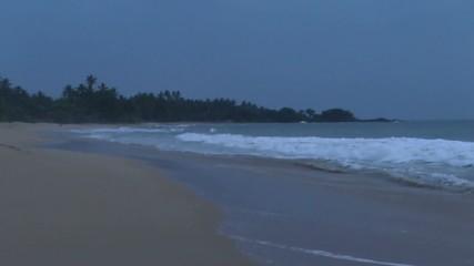 Evening on the ocean coast,