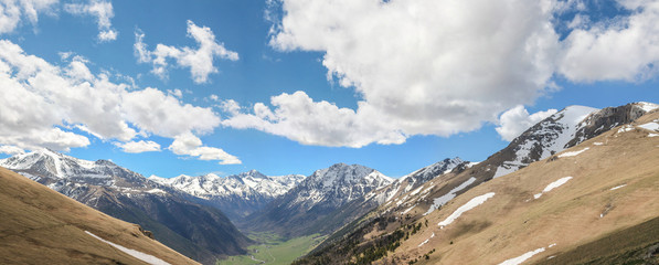 Панорама. Долина реки Маруха. Северный Кавказ