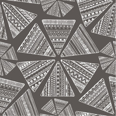 Vector seamless tribal ethnic background.