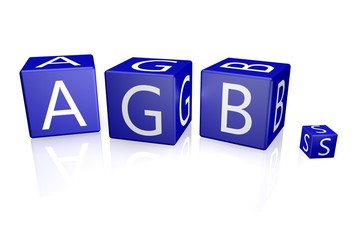 AGB Würfel blau