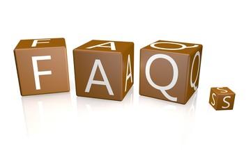 FAQ Würfel braun