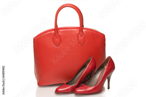 Woman accessories on white background