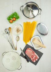 ingredients for spaghetti carbonara