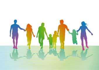 bunter  Familien Ausflug