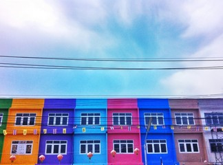 Colorful building in Bangkok, Thailand