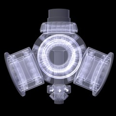 Gears. X-ray render