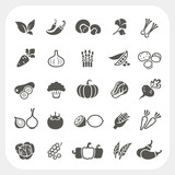 Fototapety Vegetable icons set