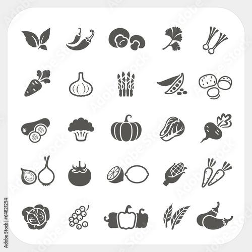 Vegetable icons set