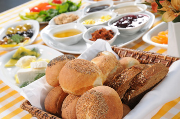 Bread basket and breakfast