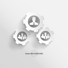 Abstract Vector Background man
