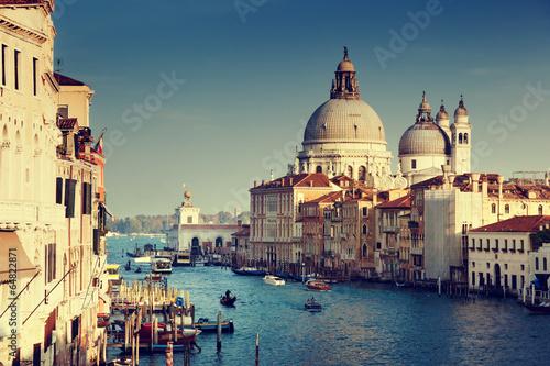 Grand Canal and Basilica Santa Maria della Salute, Venice, Italy - 64822871