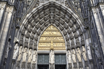 Decoration elements. Cologne cathedral, Germany