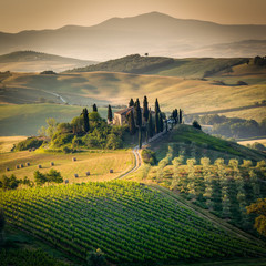Tuscany, amazing lanscape countryside, Italy