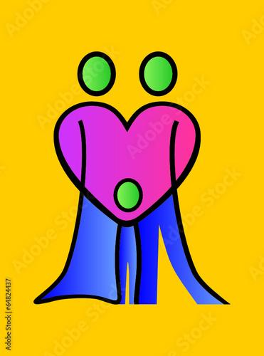 Aufkleber Familie Zusammenhalt Zeichen Symbol Familienwerte