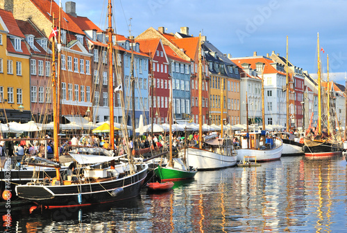 Papiers peints Scandinavie Copenhagen, Nyhavn harbor