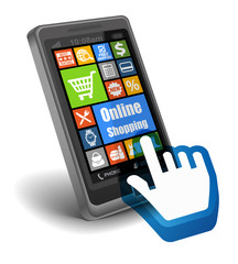 Online shopping on Smartphone