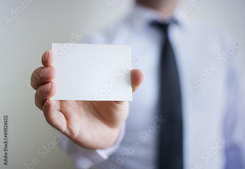 Blank  White Card - 64826632
