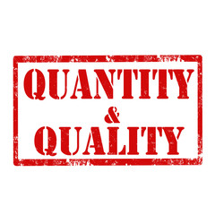 Quantity & Quality-stamp