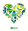 Brazil icon set. Flat design.