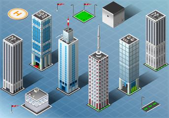 Isometric Buildings Set