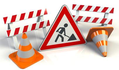 Baustelle Schild Stop