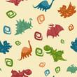 Dino Baby pattern - 64829040