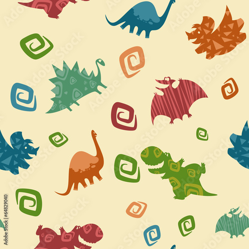 Cotton fabric Dino Baby pattern