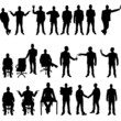 MEGA COLLECTION OF TWENTY BUSINESSMAN SILHOUETTE