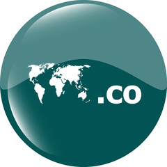 Domain CO sign icon. Top-level internet domain symbol