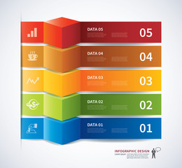 infographics tab data banner 3d