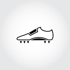 Soccer shoes. Football. Vector
