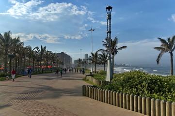 Walk seaside alley by uShaka in Durban city