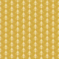 Vintage yellow floral seamless pattern. Vector