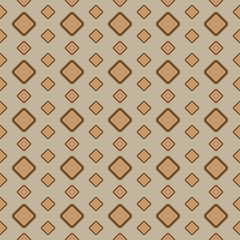 Vintage brown rectangle seamless pattern. Vector