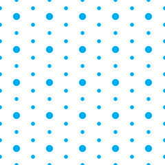 Blue circle seamless pattern